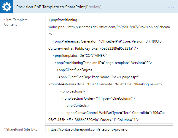 How to create a SharePoint Modern page using PnP provision