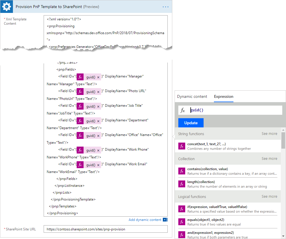 How to create SharePoint list or library using PnP provisioning