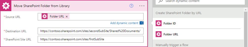 Folder Info Dynamic Content