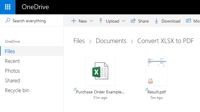 Convert XLSX to PDF in Microsoft Flow and Azure Logic Apps