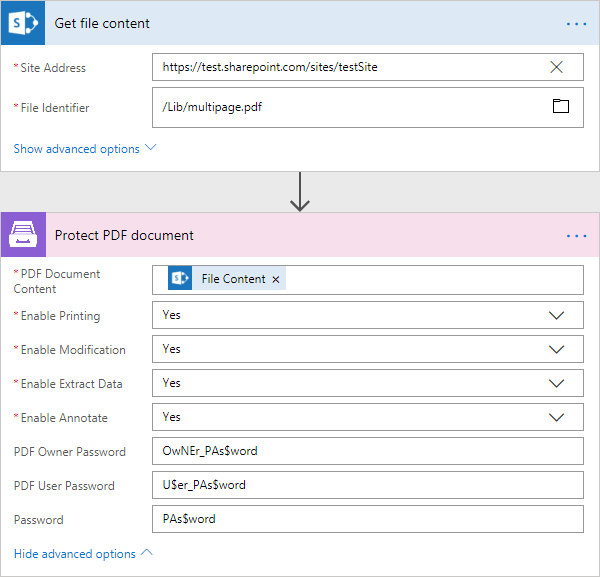 Microsoft Flow actions — Plumsail Documents 1 0 documentation