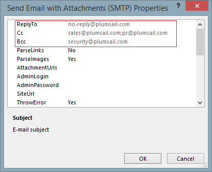 Send emails with attachments to external users — Workflow